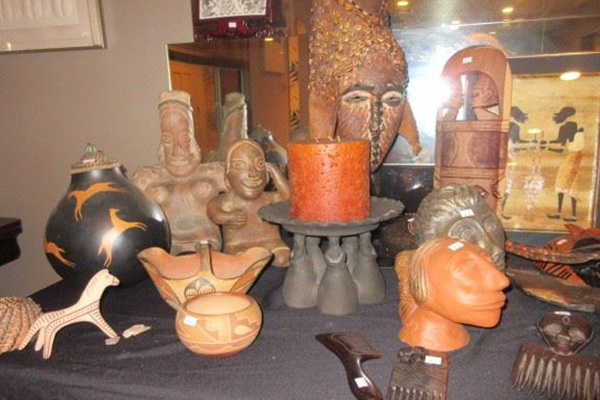 Past estate sale of a items on a table